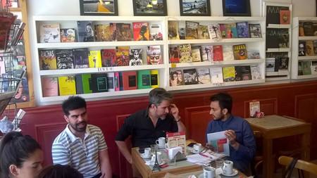 Hernán Brizio (Fundación Salto), Javier Bolaños (Fundación Salto) , Adrián Hueso (Voces del Arte, Colombia)