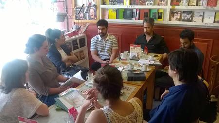 Primer Conversatorio en Café del Alba