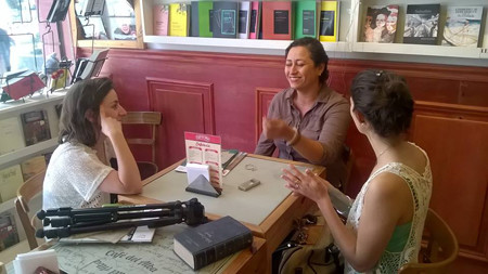 Valentina López Larrosa (Revista Me!), Susana Baca Cure (Fundación Divulgar), Cecilia Hillar (Revista Me!).